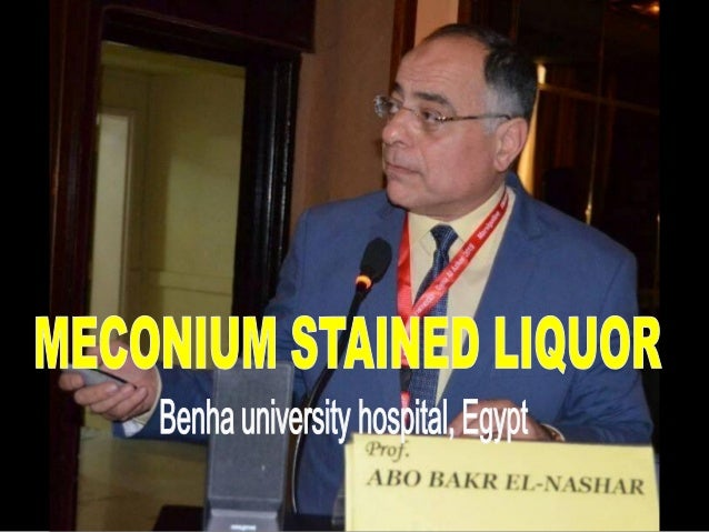 thesis on meconium stained liquor
