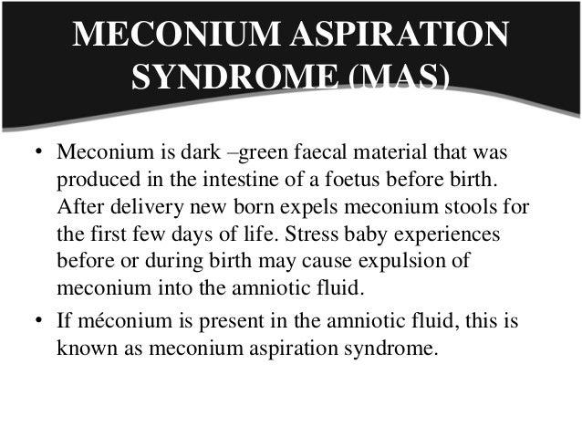 causes of meconium aspiration