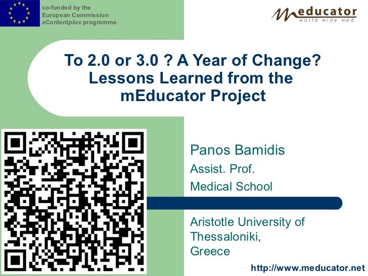 co-funded by theEuropean CommissioneContentplus programme      To 2.0 or 3.0 ? A Year of Change?         Lessons Learned f...