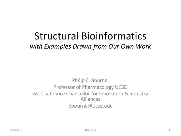 Med264 Structural Bioinformatics