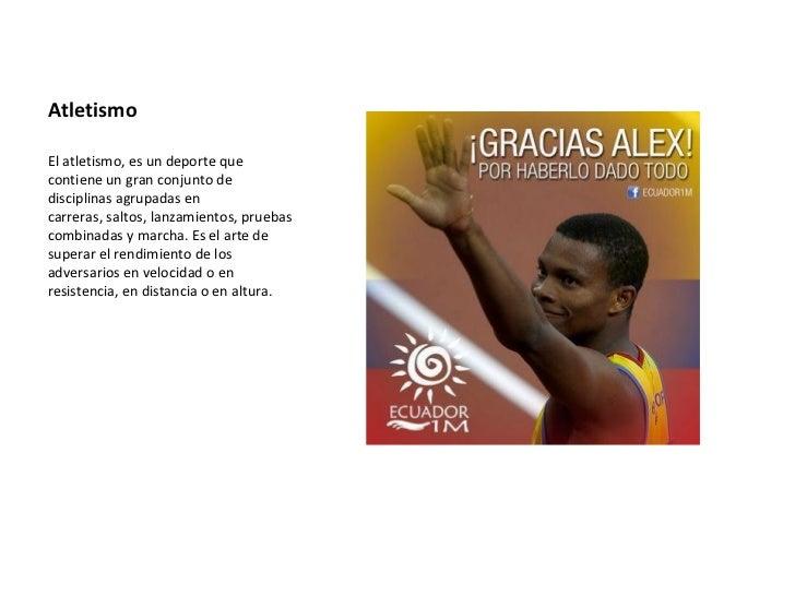 AtletismoElatletismo,esundeportequecontieneungranconjuntodedisciplinasagrupadasencarreras,saltos,lanzamien...