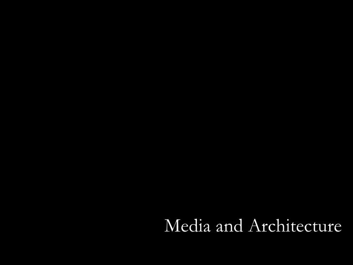 Media and Architecture