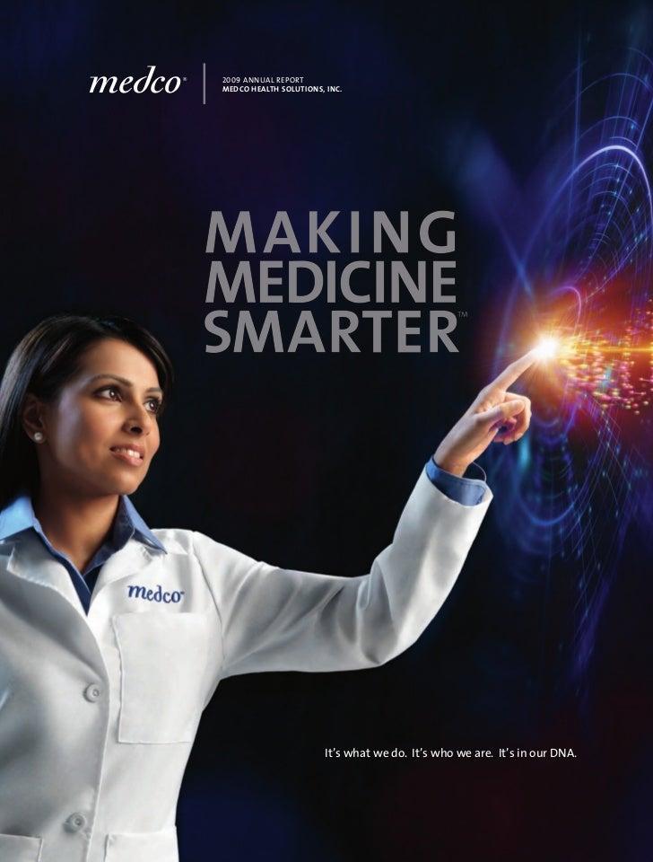 Medco health solution report