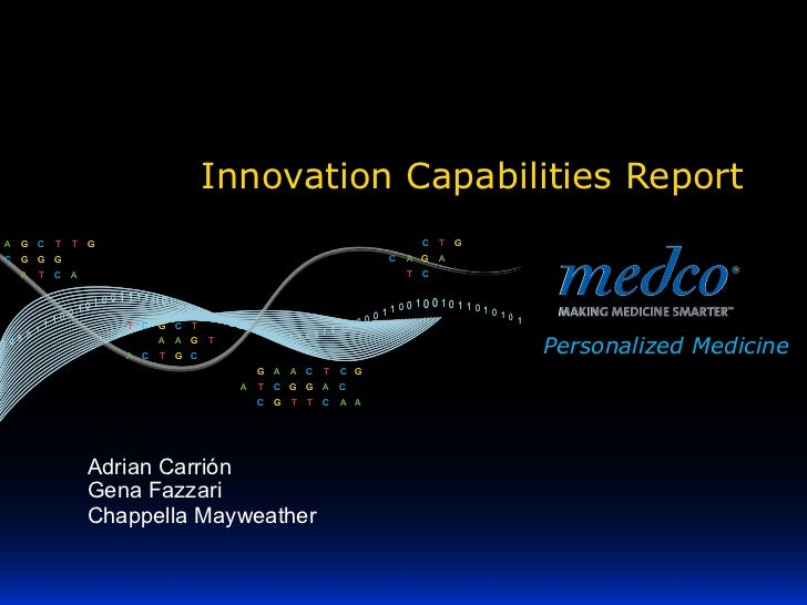 Innovation Capabilities ReportA   G   C   T   T   G                                                                       ...