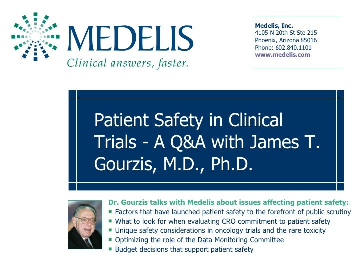 Patient Safety in Clinical Trials
