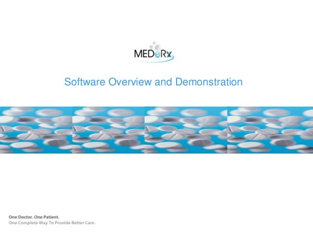 MEDeRx Physician Dispensing Software Overview