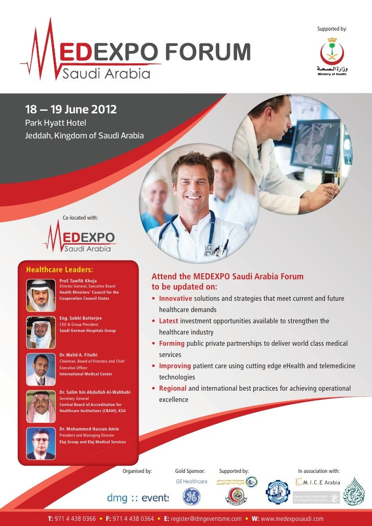 Supported by:18 – 19 June 2012Park Hyatt HotelJeddah, Kingdom of Saudi Arabia          Co-located with:Healthcare Leaders:...