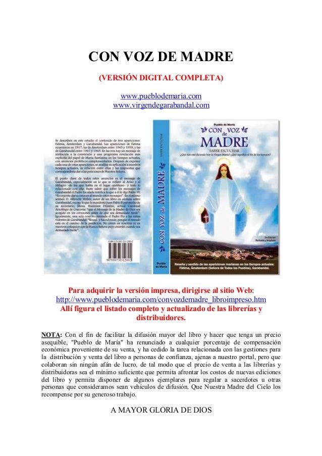 CON VOZ DE MADRE                      (VERSIÓN DIGITAL COMPLETA)                            www.pueblodemaria.com         ...