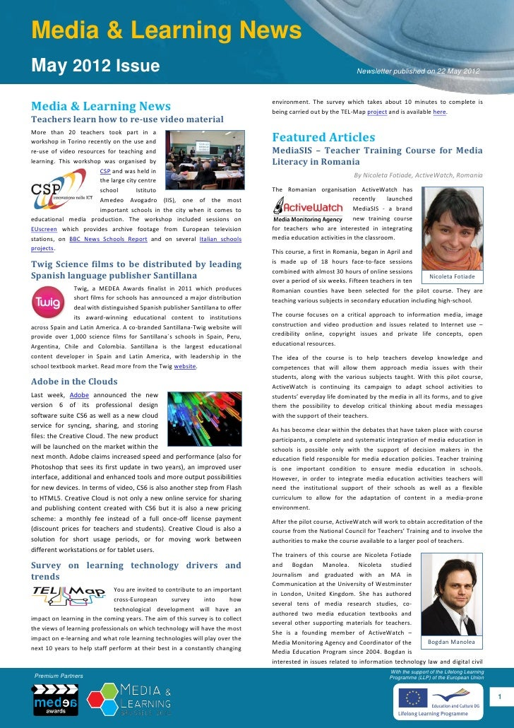 Media & Learning NewsMay 2012 Issue                                                                                       ...