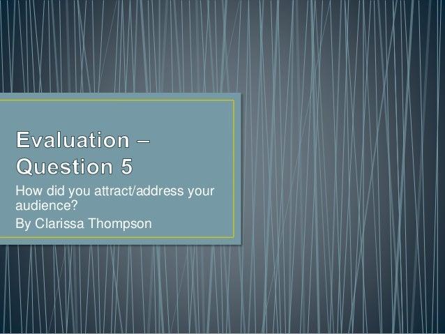Media  - Evaluation 5