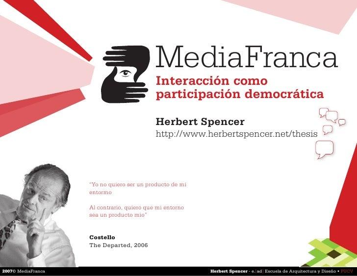 Media Franca (Herbert Spencer)