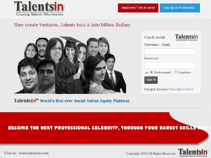 By: Team TalentsIn                                  @talentsin ; discusss@talentsin  Become the next Professional Celebrit...