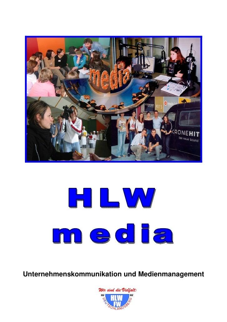 Unternehmenskommunikation und Medienmanagement