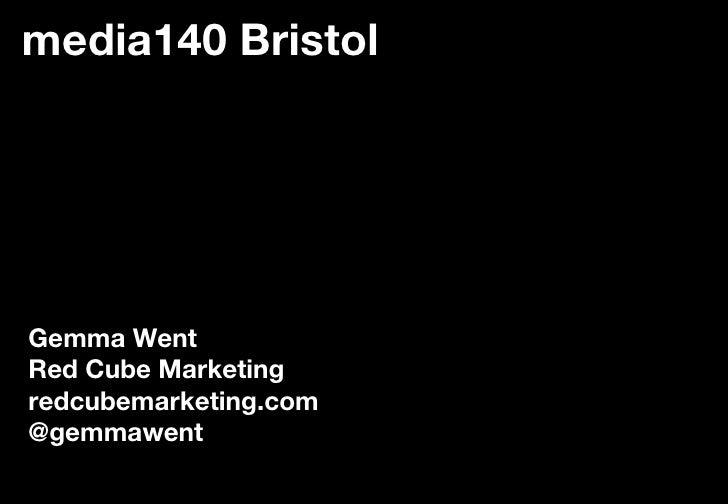 10 Minute Talk at Media 140 Bristol