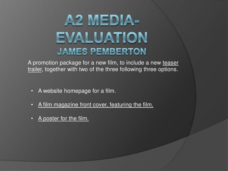 Media a2 evaluation