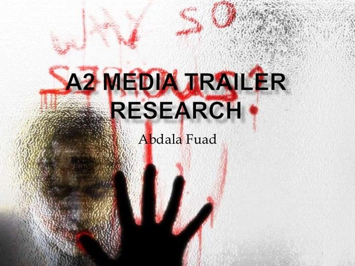 Media A2 Research
