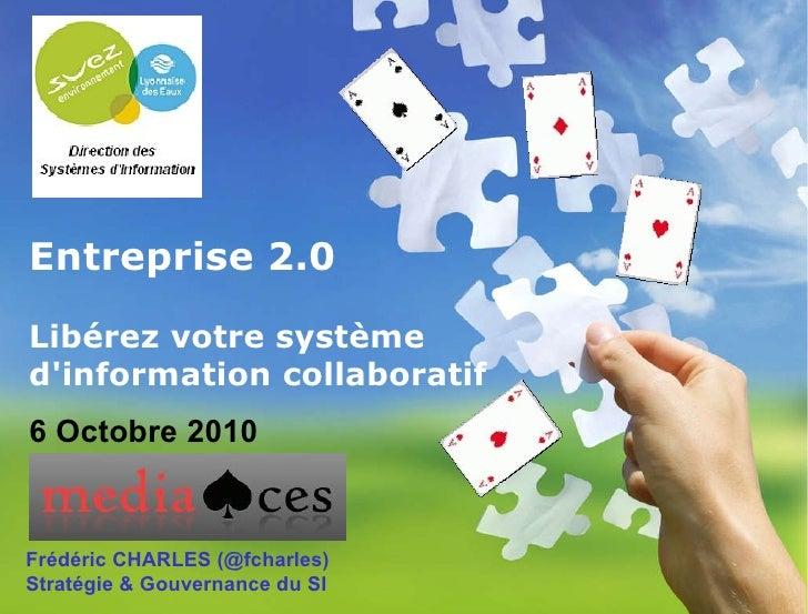 Entreprise 2.0 Libérez votre système d'information collaboratif   Frédéric CHARLES (@fcharles) Stratégie & Gouvernance du ...