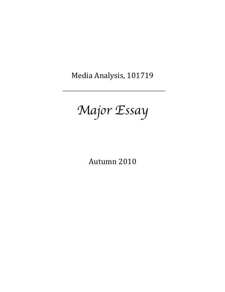 write an essay on media