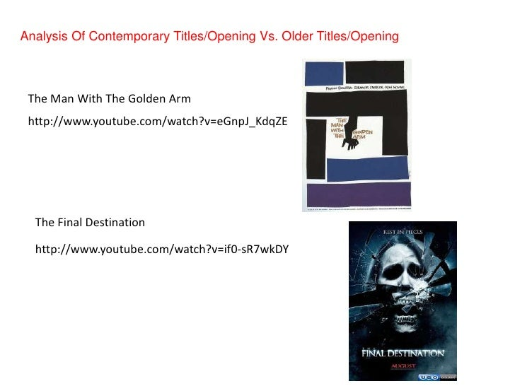 Media analysis of contemorary titles opening vs. older titles opening