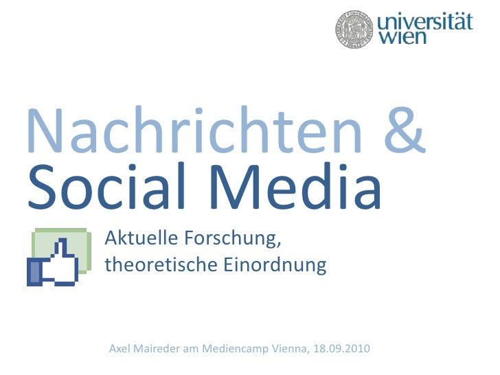 Nachrichten und Social Media