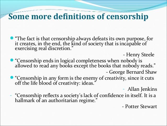 essay of internet censorship