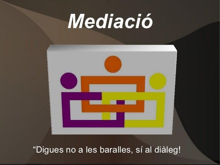 Mediació
