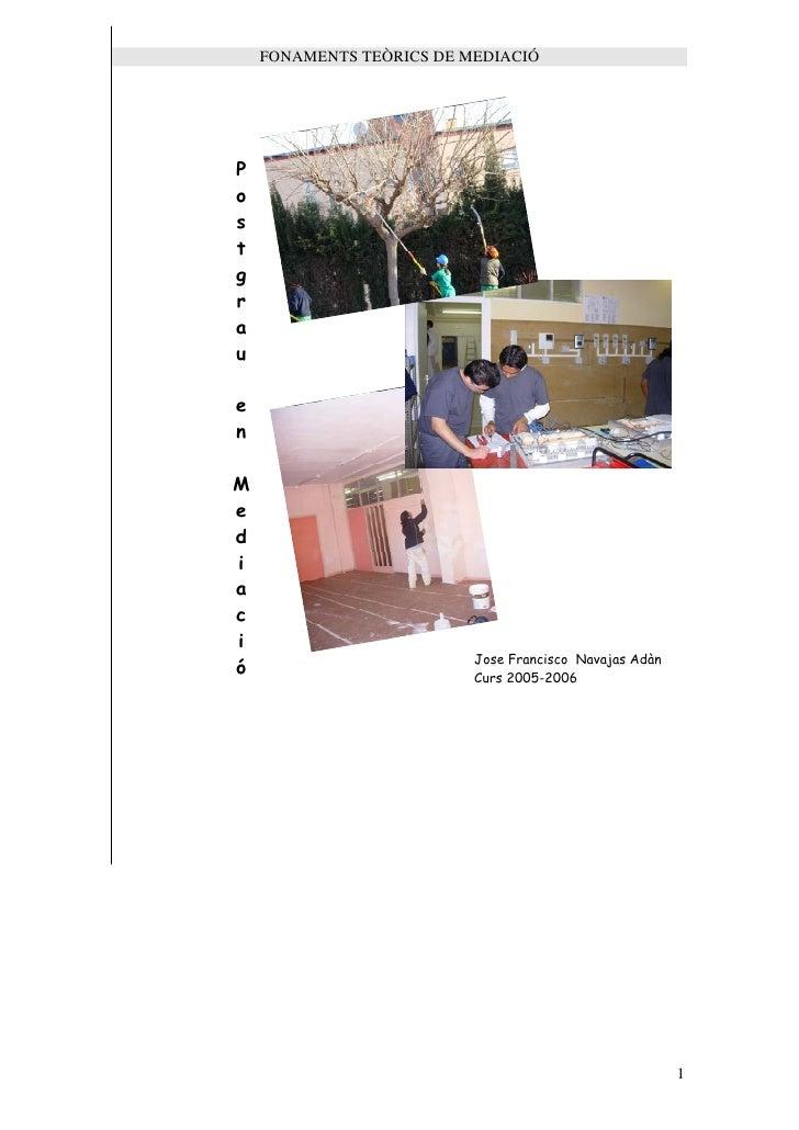 Mediació Projecte Postgrau