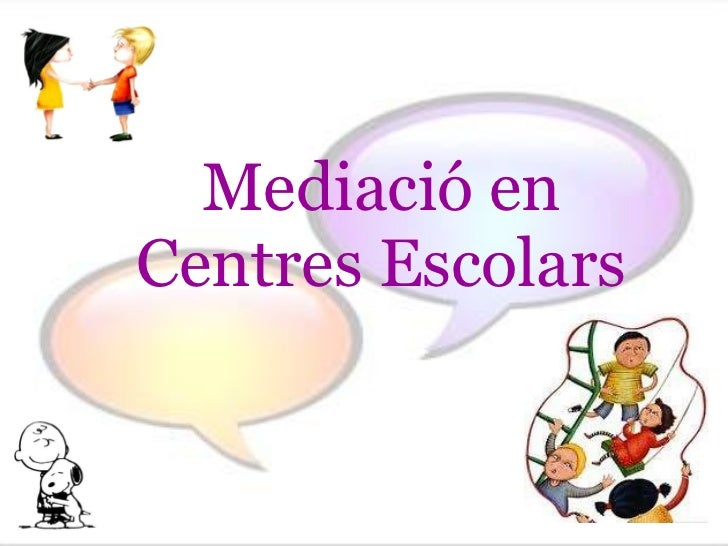 Mediació en Centres Escolars