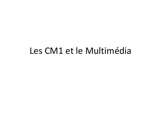Les CM1 et le Multimédia