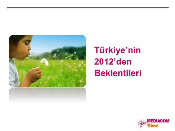 Türkiye'nin2012'denBeklentileri
