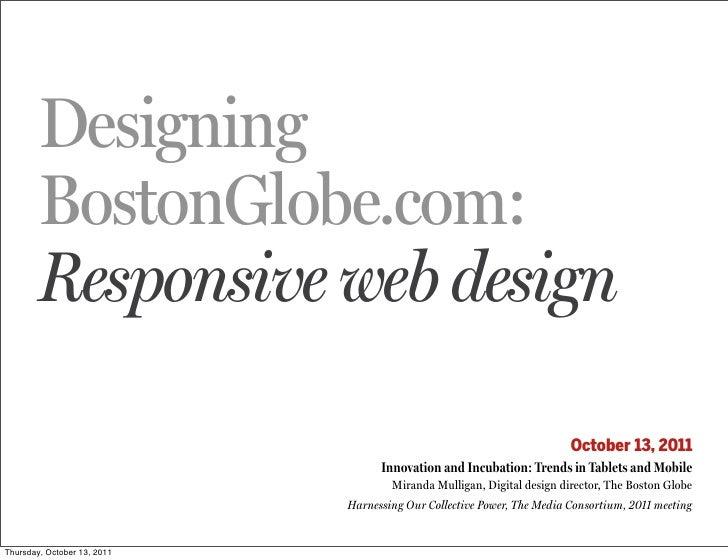 Boston Globe: Responsive Web Design