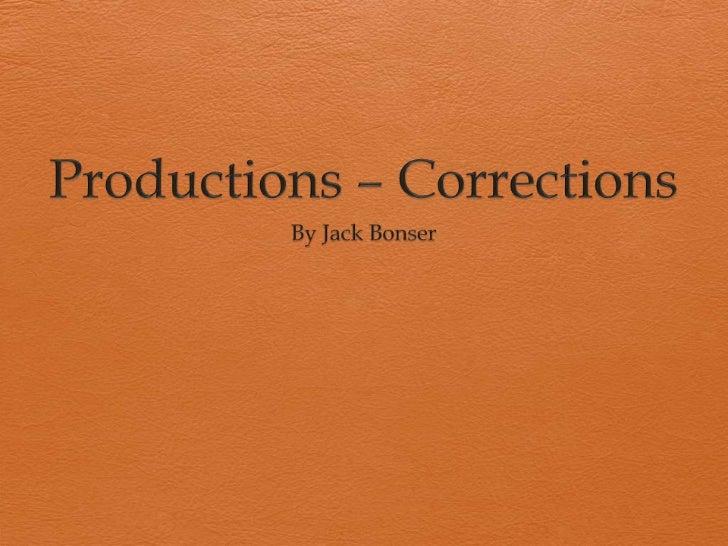 Media corrections