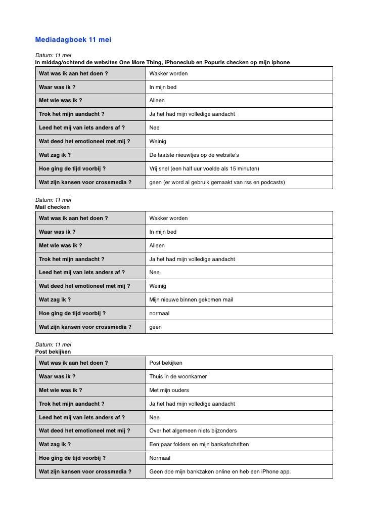 Media dagboek remy pdf