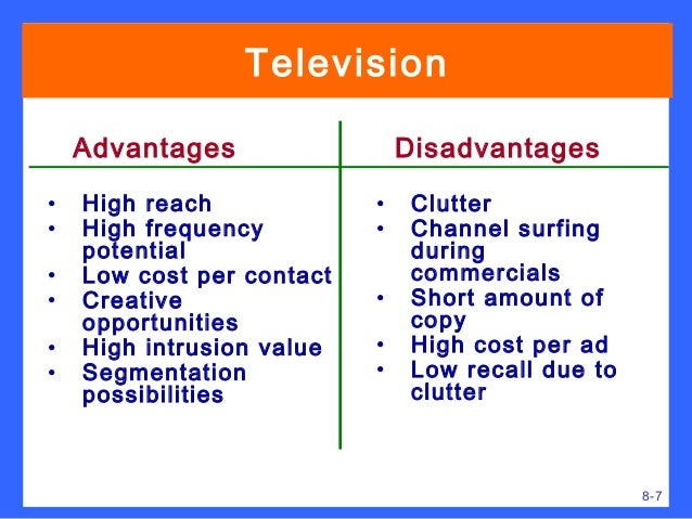 advantages and disadvantages of watching tv essay The advantages and disadvantages of television nowadays many people all over the world spent most of their free time watching television but since its appearance, television has brought to man many advantages as well as disadvantages.