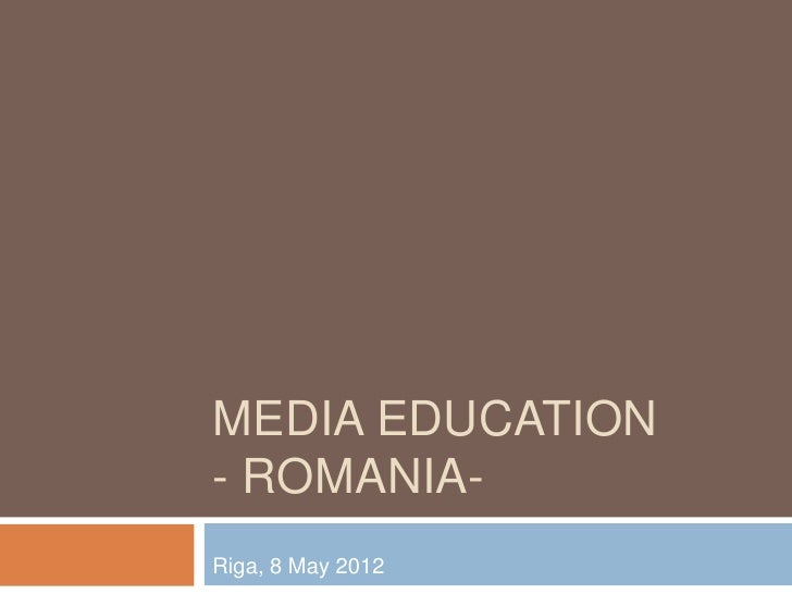 Media Education in Romania