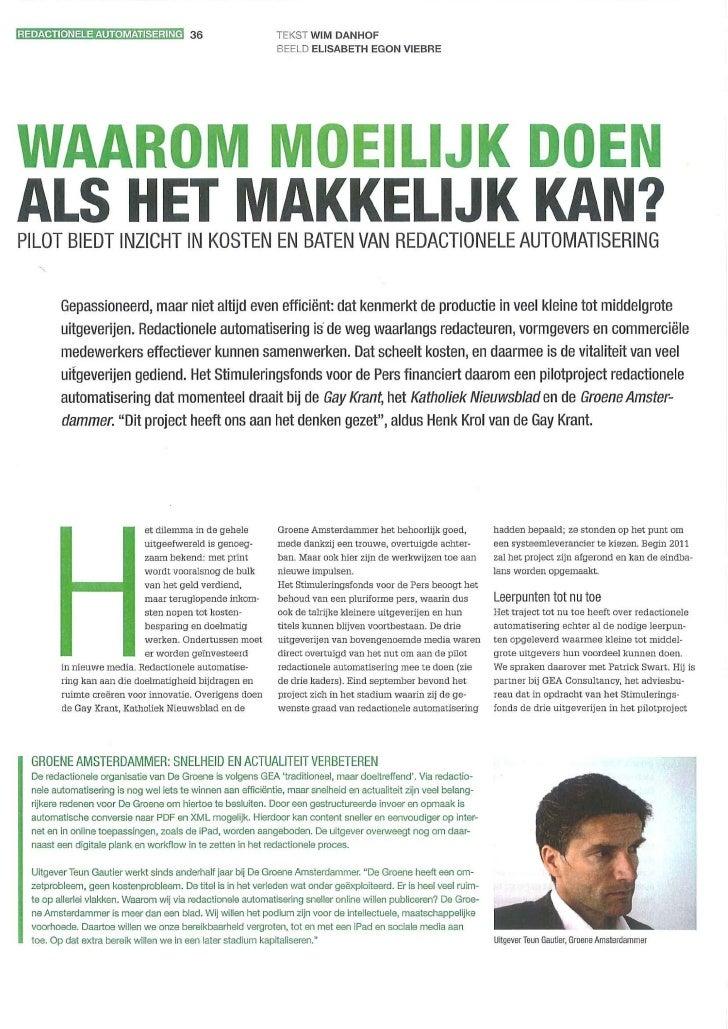 Mediafact   Oktober 2010   Artikel Redactionele Automatisering O