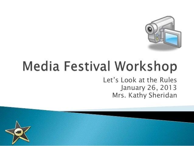 Media festival workshop