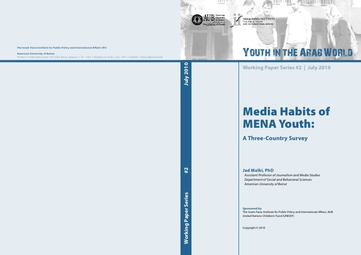 Media Habits of MENA Youth: A Three-Country Survey
