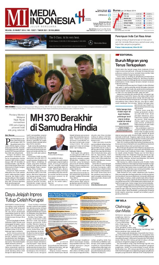 Media Indonesia 25 Maret 2014