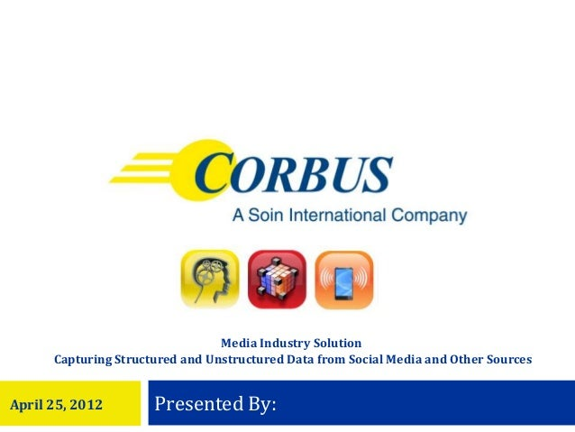Media Industry Solution      Capturing Structured and Unstructured Data from Social Media and Other SourcesApril 25, 2012 ...