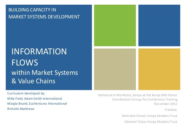 BUILDING CAPACITY IN MARKET SYSTEMS DEVELOPMENT  INFORMATION FLOWS within Market Systems & Value Chains Curriculum develop...