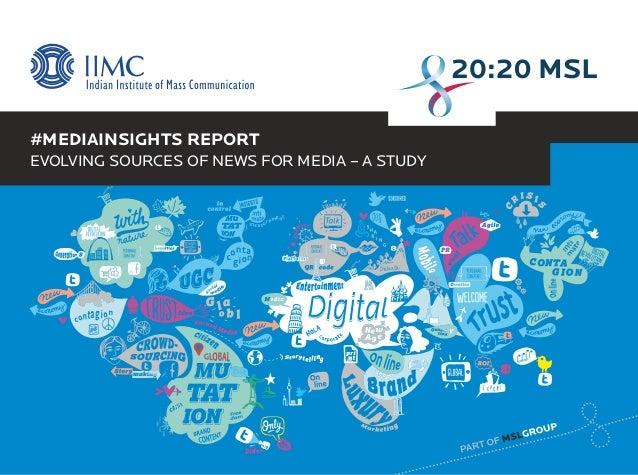 #MediaInsights: Evolving Sources of News for Media