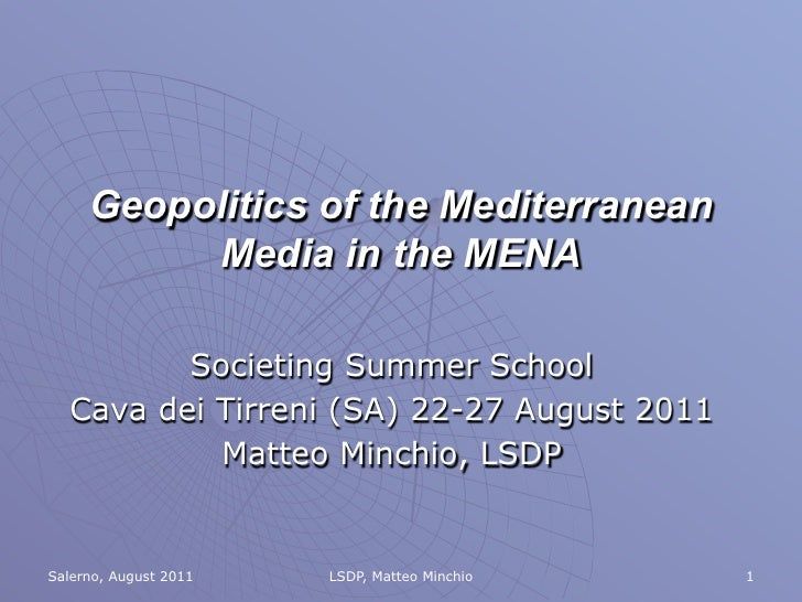 Media in the MENA - Matteo Minchio