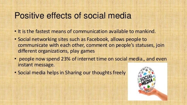 negative effects of social media 2 essay Negative effects of social media 1 one of the negative effect of social media or network is it leads to addiction spending countless hours on the social sites can .