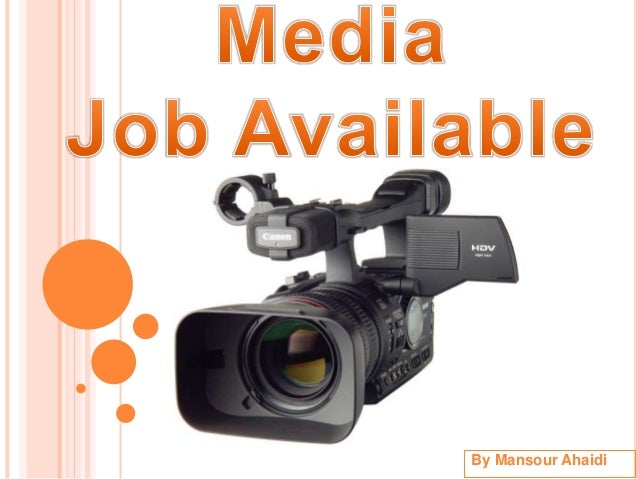 Media Job Available
