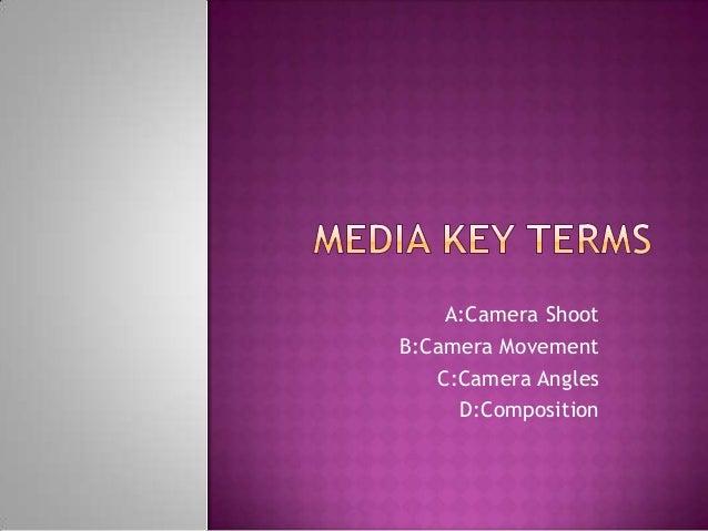 Media key terms don