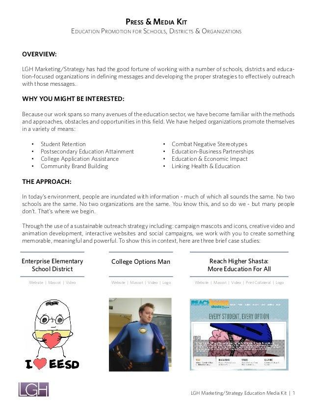 Media kit   education