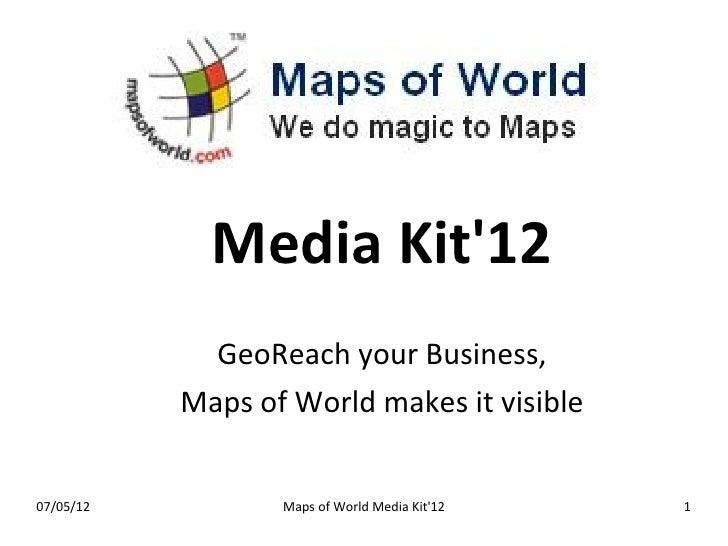 MapsofWorld - Media Kit 2012