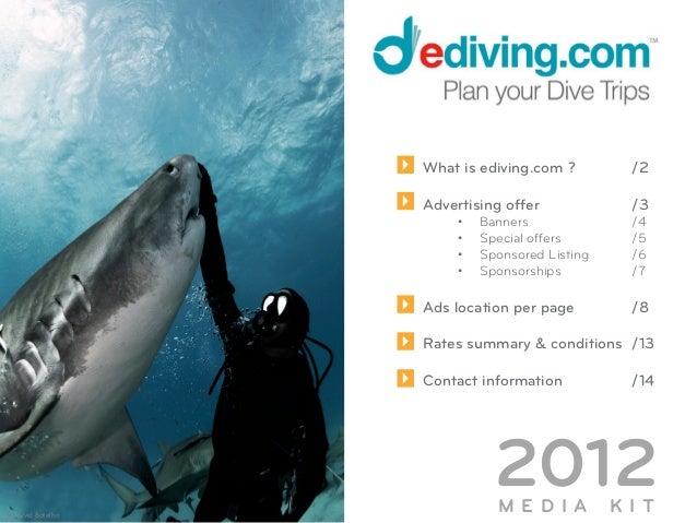 Media Kit 2013 Ediving.com