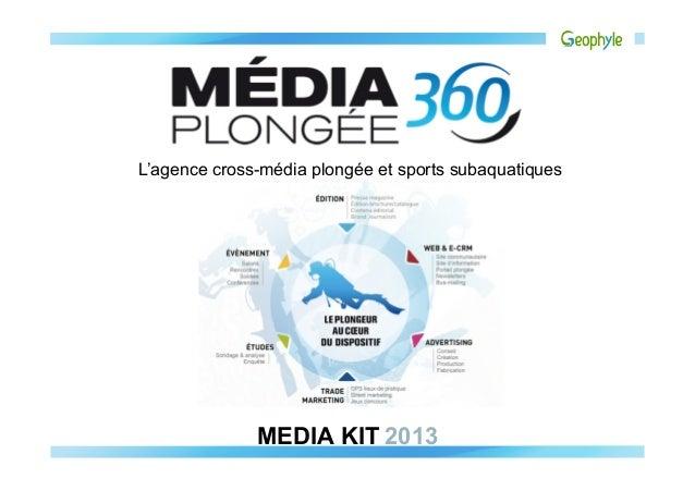 L'agence cross-média plongée et sports subaquatiques              MEDIA KIT2013